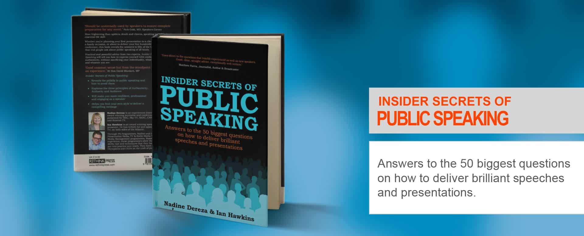 Insider secrets of public speaking