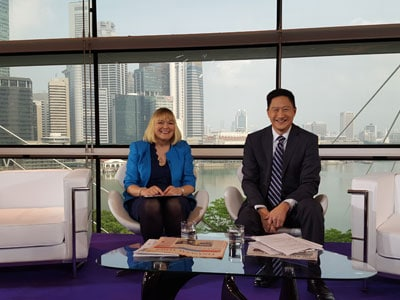 October 2015: Nadine Dereza, Presenter for SIBOS TV with Stephen Chia, Sibos Issues, page 19